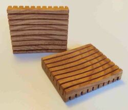 Fa szappantartó -  téglalap forma
